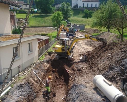Werkleitungsbau in Wangs