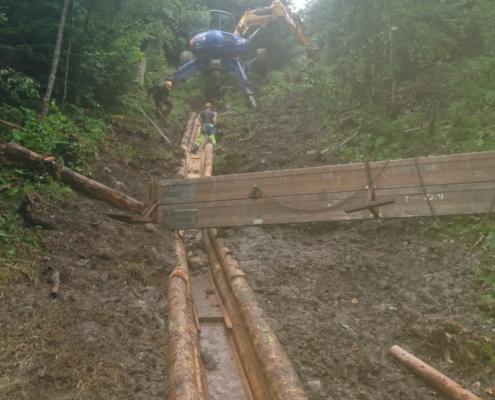 Entwässerungen aus Holz