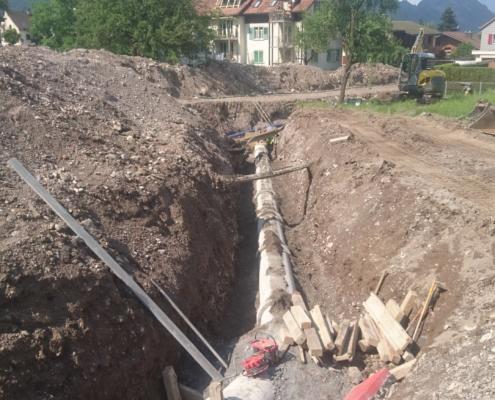 Schmutzwasserleitung Plättli- Neuwangserstrasse